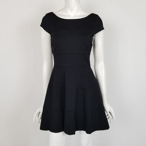 Banana Republic Black Fit & Flare Mini Dress 6P